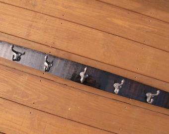 Whiskey Barrel Stave Coat Rack