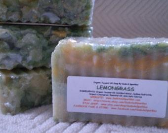 Lemongrass Organic 100% Coconut Oil Soap Bar - 5-6oz. Each