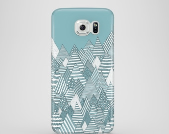 Winter Forest / mountains phone case / Samsung Galaxy S7, Samsung Galaxy S6 Edge, Samsung Galaxy S6, Samsung Galaxy S5 / teal phone case