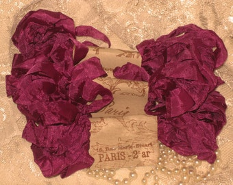 Scrunched Seam Binding ribbon, Crinkled Seam Binding Package Fuschia ECS