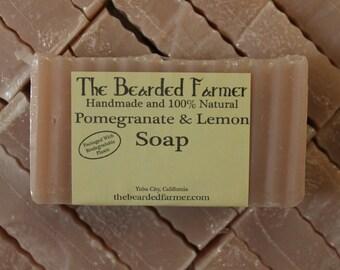 Pomegranate & Lemon Natural Soap - The Bearded Farmer
