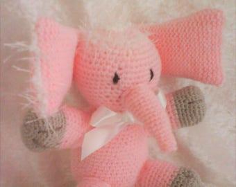 Pink ELEPHANT PLUSHIE, wool