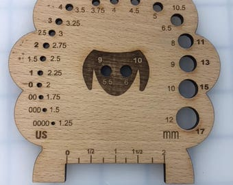 Sheep Knitting Gauge-Beech