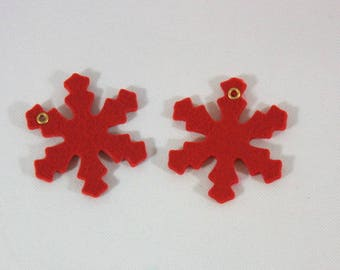 Embellishments/applique/subjects felt red stars