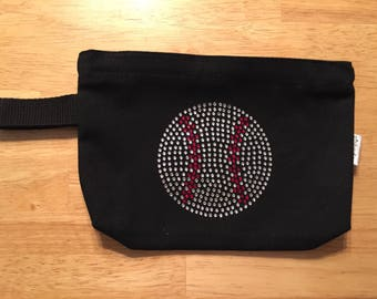 Sport Rhinestone Small Bag;baseball, softball, basketball, volleyball, tennis or soccer