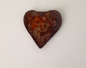 Small Rusted Tin Heart