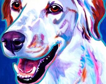 Llewellin Setter, Pet Portrait, DawgArt, Dog Art, Llewellin Setter Art, Pet Portrait Artist, Colorful Pet Portrait, Art Prints, Art, Dog
