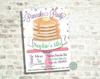 Pancake Stack Party Invite