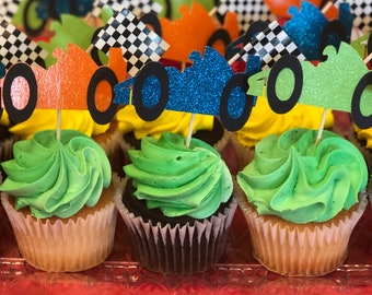 Race Car Cupcake Toppers!