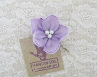 Lavender Flower Hair Pin. Lavender Flower Hair Piece. Bridesmaid Hair Accessory.
