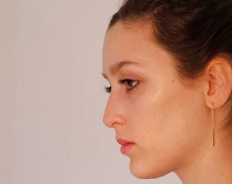 Greta, Elongated U-Shaped Earrings