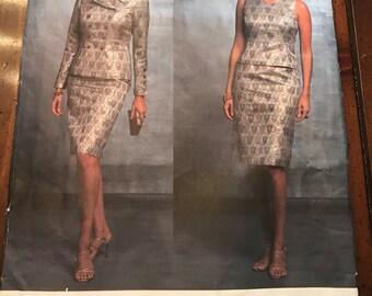Vogue 2845 Jacket, Top and Skirt, Oscar de la Renta Designer, Size 14 - 18 UNCUT