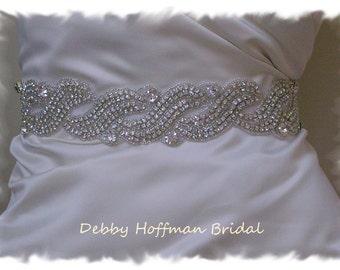Bridal Belt, Bridal Sash, Wedding Sashes and Belts , Rhinestone Crystal Wedding Dress Belt, Jeweled Sash, Crystal Wedding Belt, No. 1196S3,