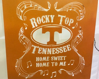 """Rocky top"""" University of Tennessee sign. UT fans will love this!!"""