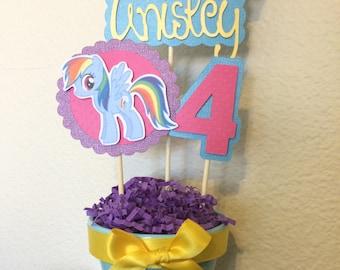 My Little Pony 'Rainbow Dash' INSPIRED Centerpiece STICKS ONLY