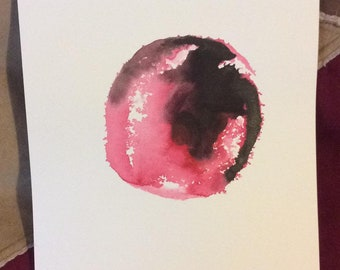 Death Throes of a Dying Sun Original Watercolour Painting