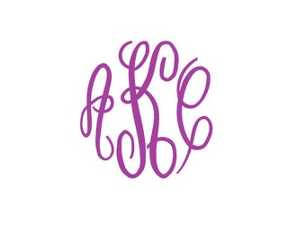 Fancy Monogram Font Svg, Fancy Monogram Circle Font, Svg Fonts, Cricut Fonts, Svg Files