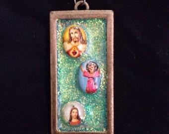 Green x Jesus: Pendant necklace