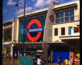 London Underground Art - The Tube - Brixton Train Station - British Home Decor - Travel Art - 2012 Olympics - Fine Art Photograph