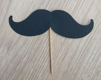 Mustache cupcake toppers, 12 Moustache Cupcake Toppers, Baby Shower, It's a boy, gender reveal, first birthday, boys birthday, Moustache