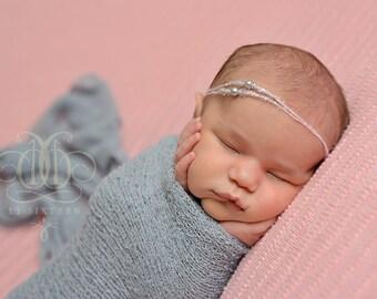 Gray Stretch Knit Wrap Newborn Baby Photography Swaddle