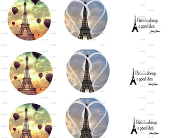Paris Bottle Cap Images