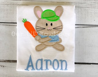 Baseball Easter Bunny - Easter Bunny Applique Shirt - Personalized Easter T- Shirt - My 1st Easter Shirt - Boys Easter Shirt-Boy Bunny Shirt