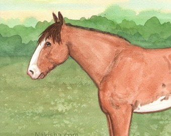 Original Art - The Emperor - Watercolor Horse Painting - Art from The Riderless Tarot