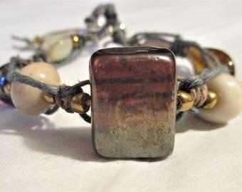 Rocky Ledge, Women's Braided and Beaded Bracelet