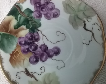 Lefton China Hand Painted made in Japan Saucer with Grapes