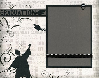 12x12 Premade Scrapbook Page - Graduation