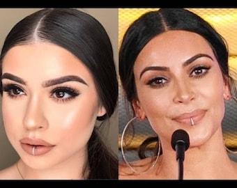 Kardashian Fake Lip Ring-Lip Ring-Gold Fake Lip Piercing -Fake lip Cuff - Fake Piercing-Faux Lip Ring-Silver Fake Lip Ring-Gold Lip Ring