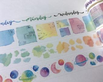 SAMPLE Washi Tape SMO Today ribbon Planet Watercolor