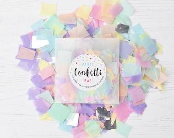 Pastel Confetti, Pastel Mix, Pastel Decorations, Spring Wedding Confetti, Party Confetti Bag