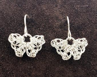 Sterling Silver Celtic Butterfly Earrings