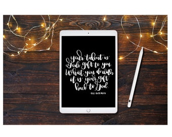 Talent quote - hand lettered design - cut file
