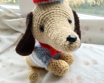 Dachshund Handmade/Crocheted Stuffed Toy
