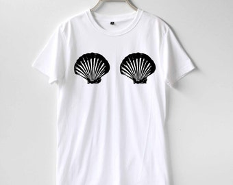 Zeemeermin Shell Boobs Boob Shirt TShirt T-Shirt T Shirt Tee