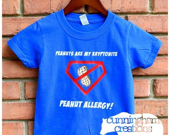 Custom Toddler Allergy Alert Shirt