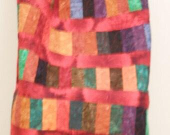 Lap Quilt / Batik Lap Quilt / Chinese Coin Quilt / Sofa Quilt / Throw Quilt / Batik Quilt / Red Lap Quilt