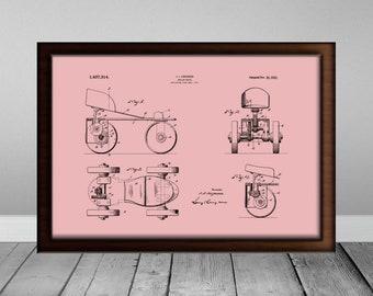 Roller Derby Gift Roller Skates Print Roller Skate Lover Downloadable Prints Roller Derby Art Trending Now Skate Patent Print Printable Art