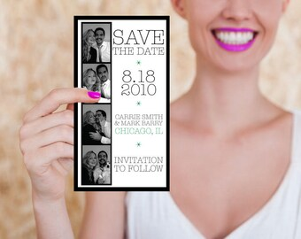 Photo Booth Wedding Save the Date or Invitation Set of 10