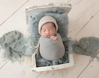 Newborn Bonnet,Knit Bonnet,Knit Baby Bonnet,Newborn Classic Bonnet,Newborn Photography Prop,Photo Prop,Knit Bonnet