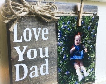 Father's Day , Dad,Picture Frame,Daddy, Wood Block,Dad Gift