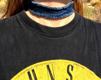 Denim Chocker Necklace