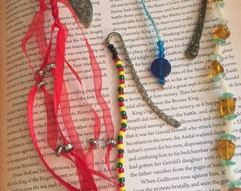 Bookmark / Fancy Bookmark / Beaded Bookmark