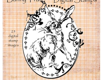 BUNNY TRAIL digital stamp set