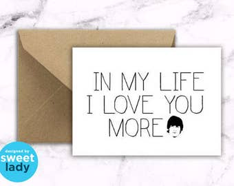 Lyrical Card : THE BEATLES In My Life