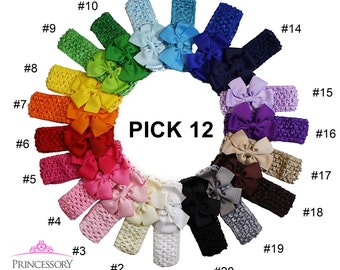 Baby Headbands Set, baby girl headbands, crochet headband baby, infant headbands, bow headband baby, girl headband baby HC06
