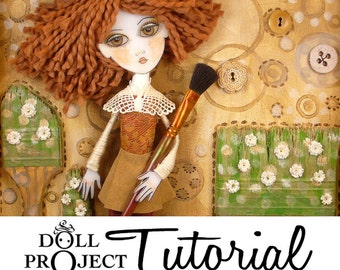 Collage Doll Tutorial - Dimensional Collage Box and Doll Workshop - How to create ooak art